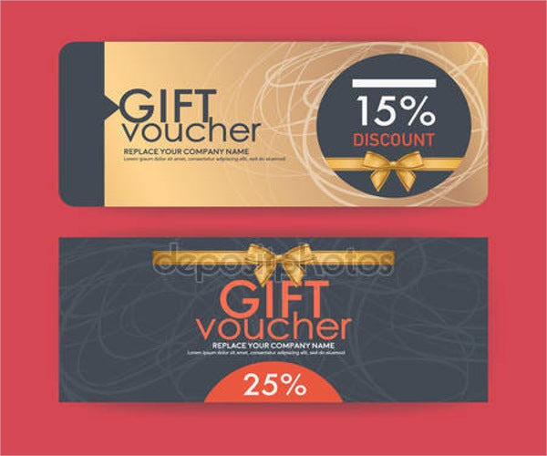 vintage discount voucher template