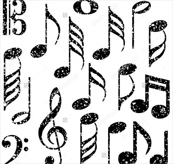 grunge music note brushes