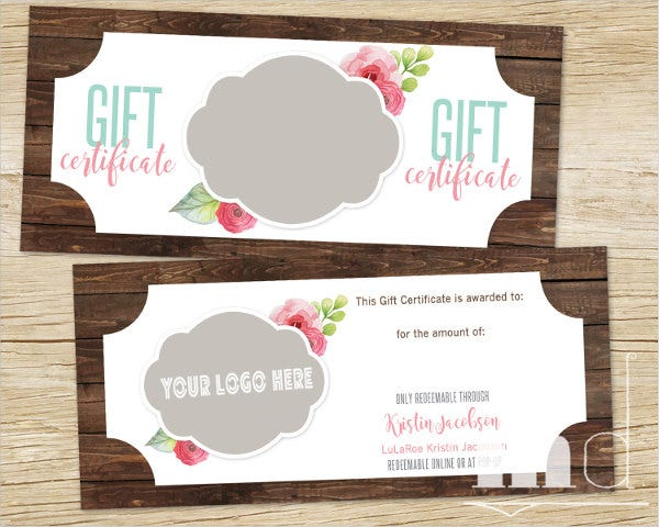 personalized vintage voucher template