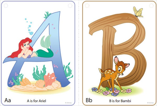 Witty image regarding disney letters printable