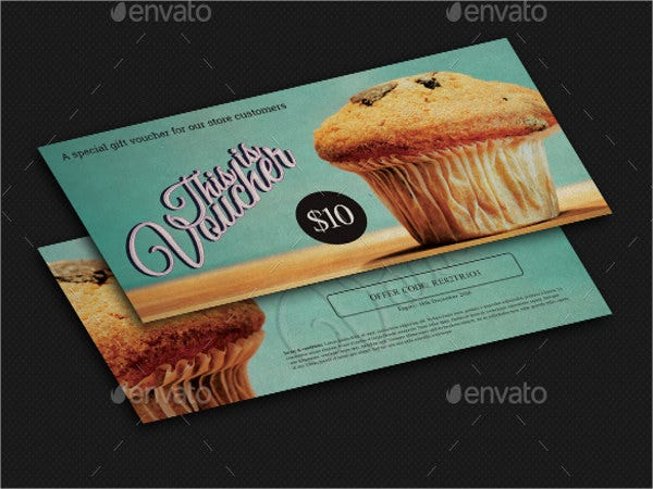 vintage food voucher template