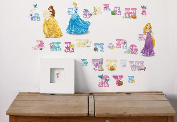 disney princess alphabet letter