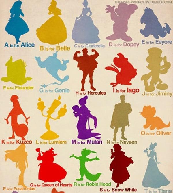 Disney Alphabet Monogram Letter