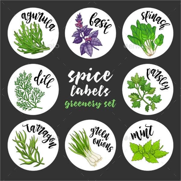 spice and herbs label templates