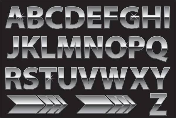 vintage metal alphabet letter