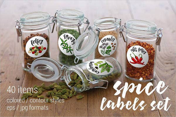 7 spice jar label templates free printable psd word pdf format