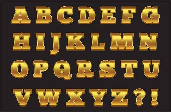 photo relating to Printable Fancy Lettering identified as 9+ Extravagant Alphabet Letters - Totally free PSD, EPS, Structure Down load