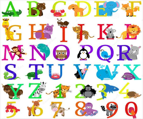 free animal themed alphabet letter