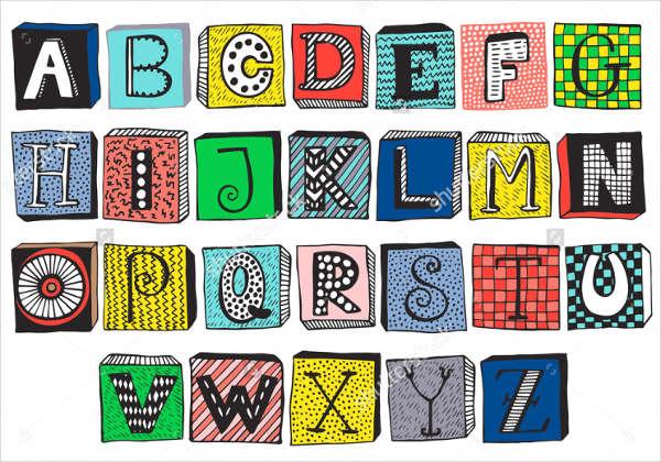Fancy Block Alphabet Letter