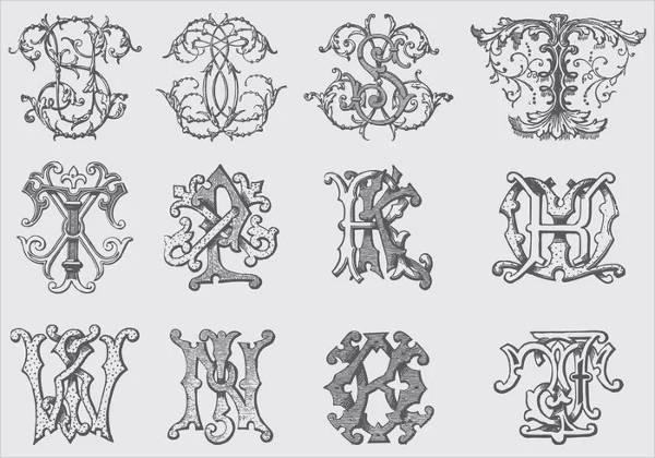 Fancy Monogram Alphabet Letter