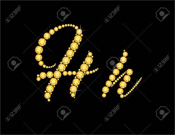 fancy alphabet script letter