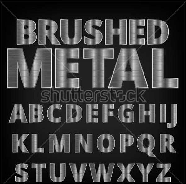 brushed-metal-alphabet-letter