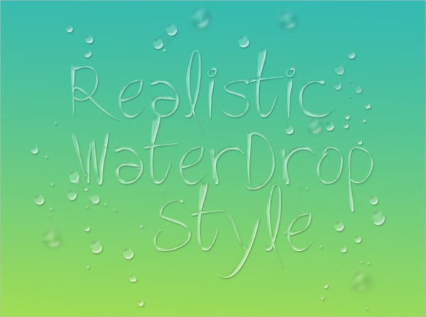 Realistic Waterdrop Brushes