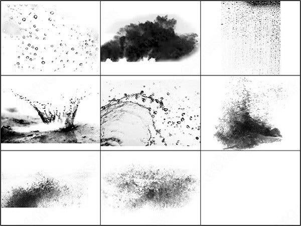 Water Droplets Brushes