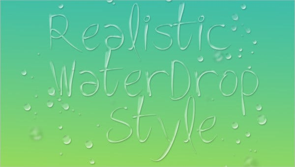 realisitic water drop brshes