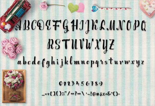 English Script Alphabet Letter