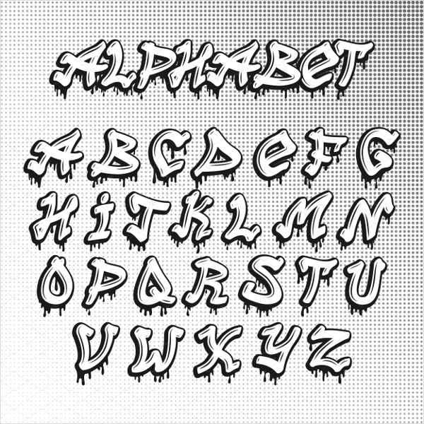 Graffiti Script Alphabet Letter