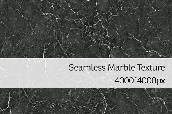 Seamless Black Marble Texture