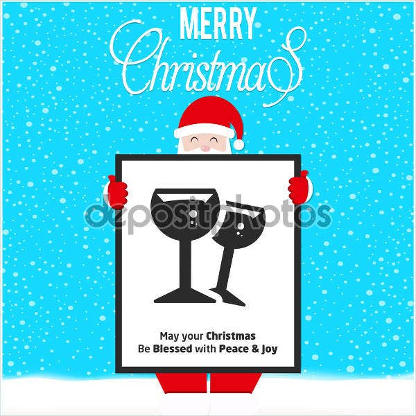christmas drink voucher template