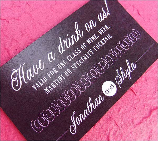 wedding drink voucher template1
