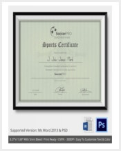 soccer-sport-certificate