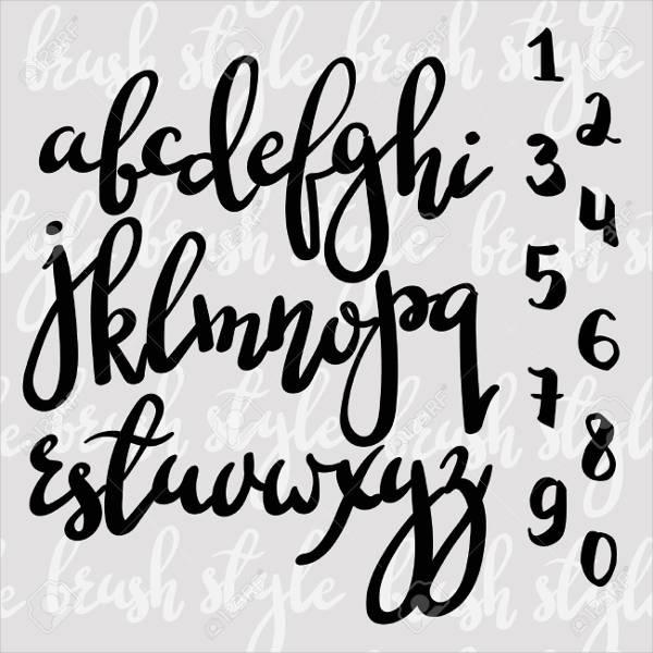 Cursive Script Alphabet Letter