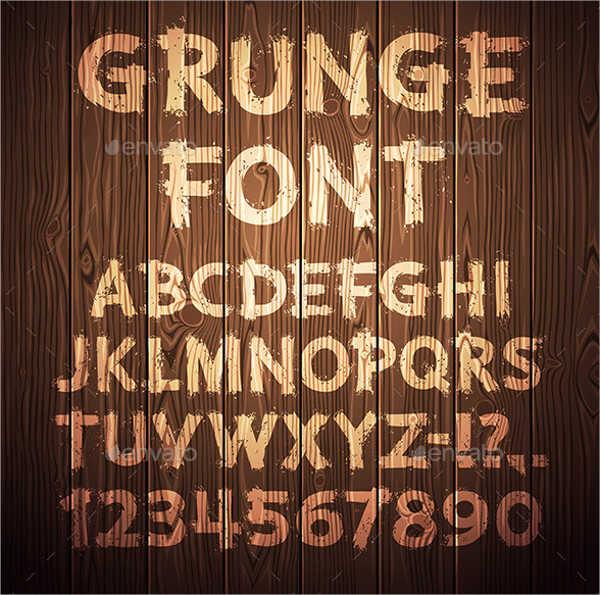 Wooden Script Alphabet Letter