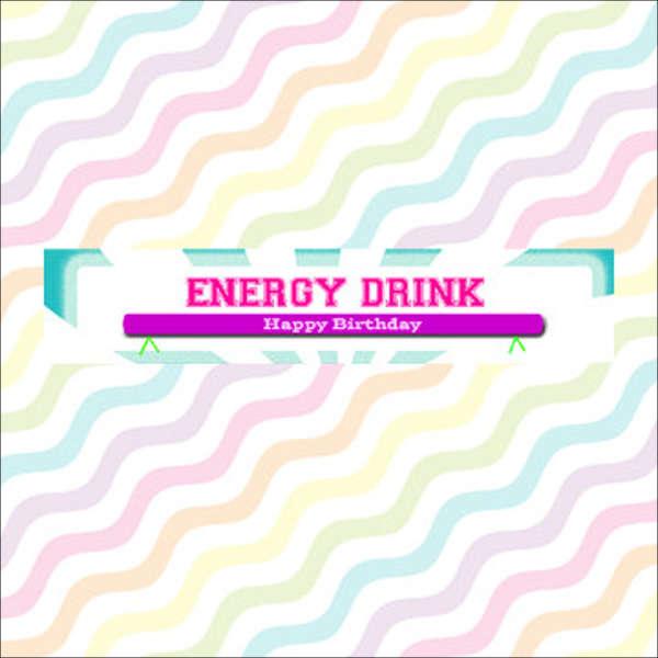 energy drinks bottle label