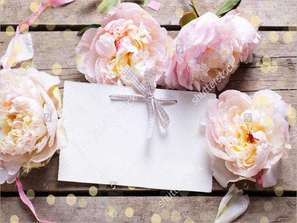 blank wedding place card