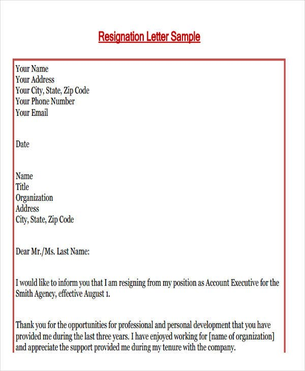 formal email example 8 formal e mail templates free psd eps ai format 15368 | Formal Resignation Email