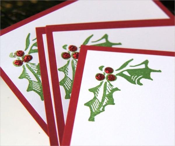 blank christmas place card