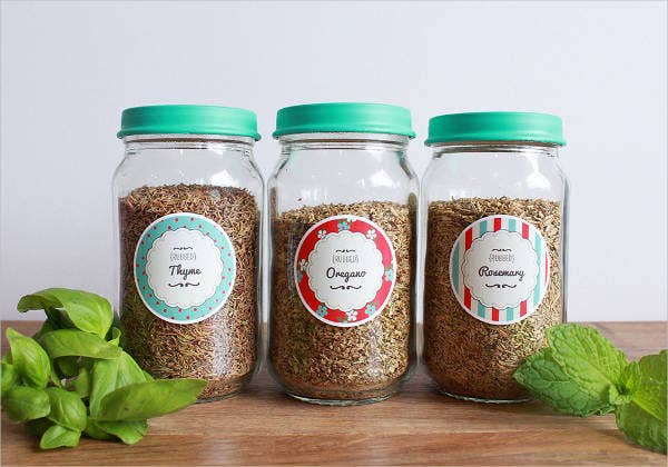 diy spice jar label template