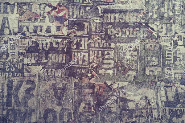 Newspaper Collage Texture
