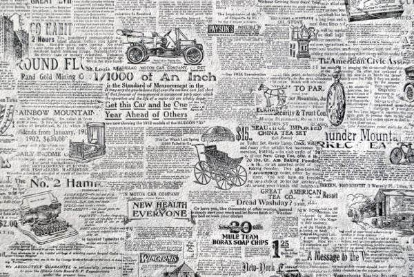 Crumpled Newspaper Texture