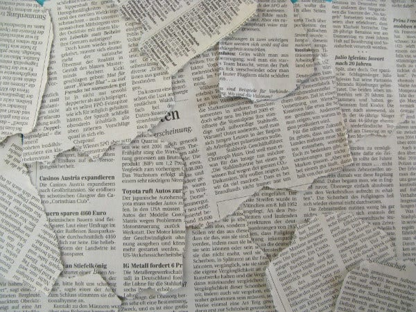 High Resolution Newspaper Texture