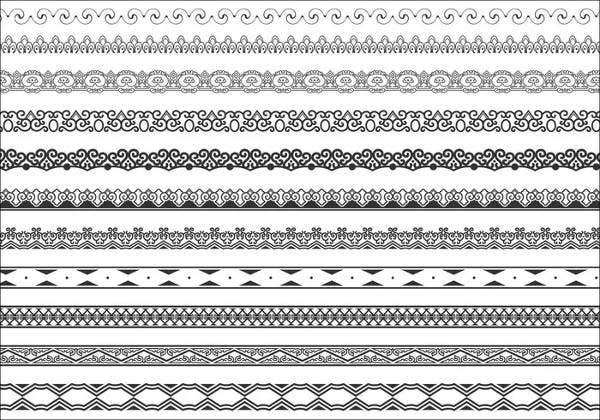 ornament-border-brushes