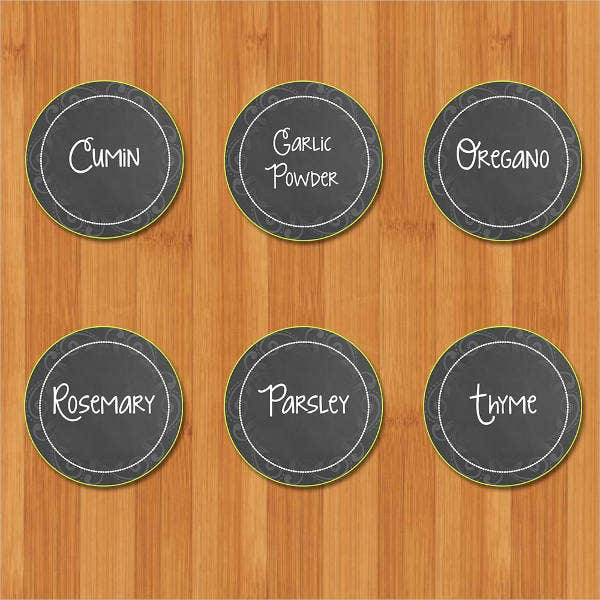 chalkboard spice jar label