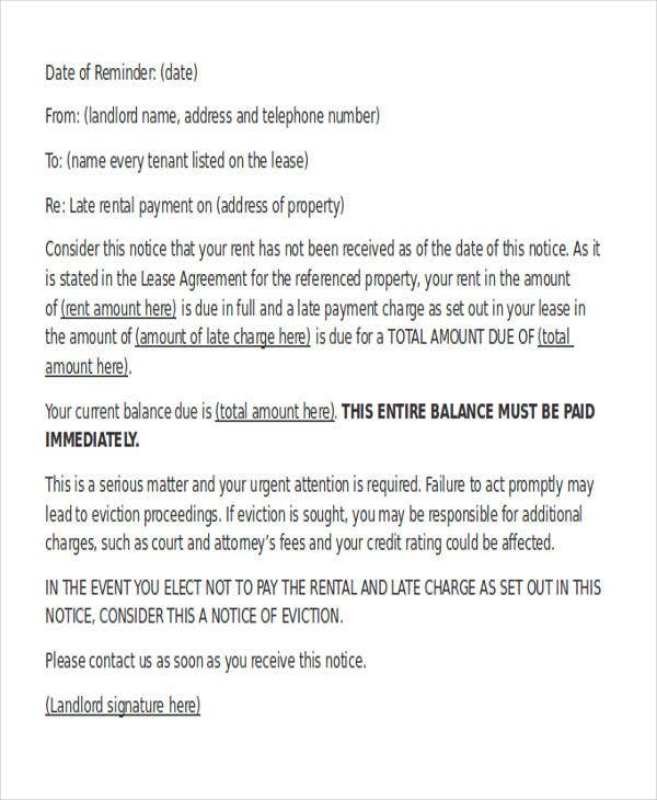 Late warning letter template 5 free word pdf format download warning letter to tenant for late payment spiritdancerdesigns Images