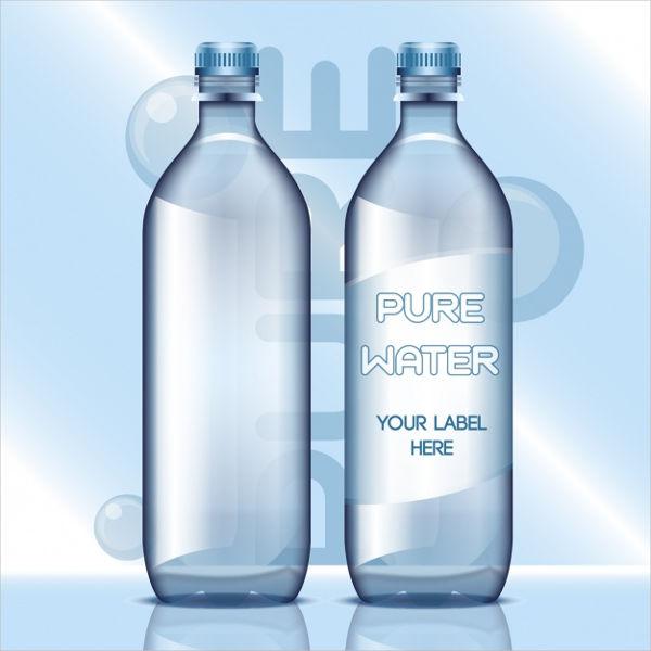free blank water bottle label