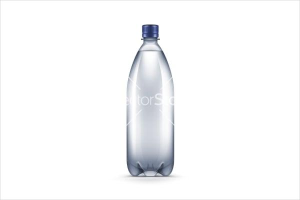 blank plastic water bottle label