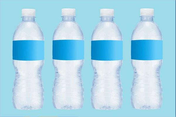 blank vector water bottle label set
