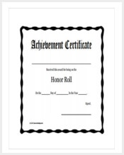 Certificate template 337 word pdf documents download free printable and fillable honor roll award certificate yadclub Choice Image