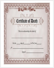 Certificate template 337 word pdf documents download free free death certificate template download yadclub Choice Image