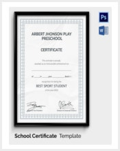 schoolsports-achievement-award-template