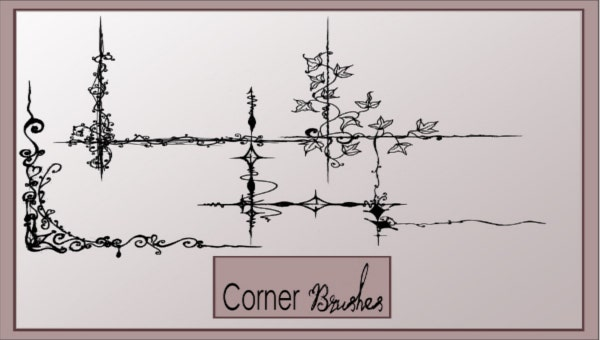 9 photoshop corner brushes