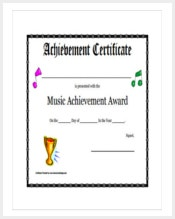 Certificate template 337 word pdf documents download free music achievement award certificate template download yadclub Choice Image