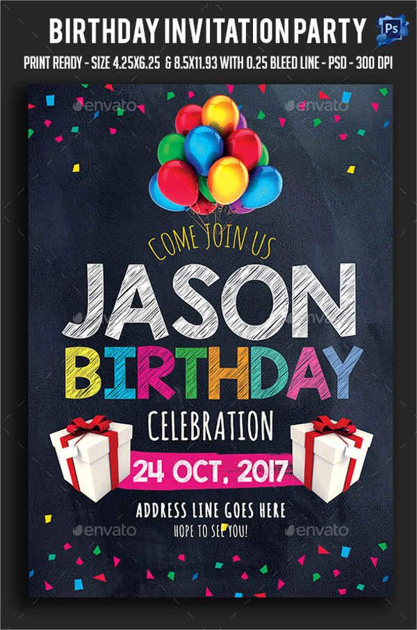 birthday invitation layout design