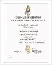 free printable retirement certificates