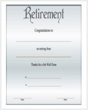 Certificate template 337 word pdf documents download for Retirement certificate template