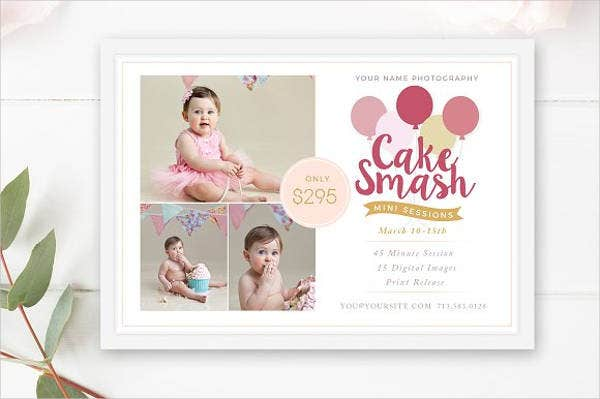 first birthday layout template